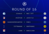 UEFA Champions League round of 16 draws