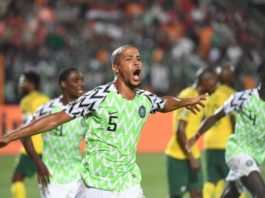 Nigeria vs South Africa AFCON match