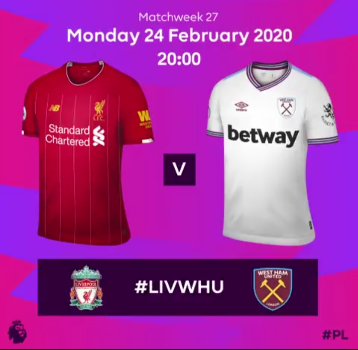 Liverpool vs. West Ham United