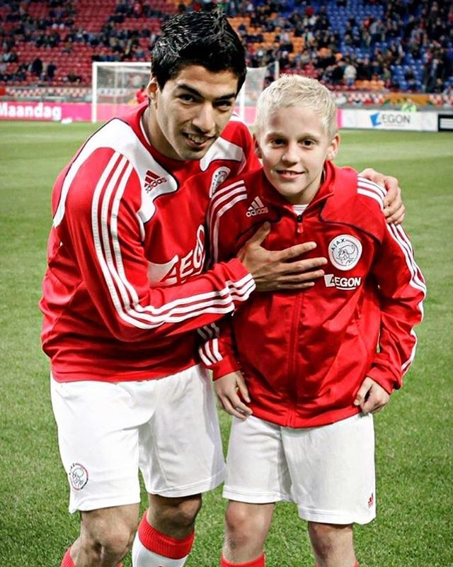 Donny Van de Beek and Luis Suarez