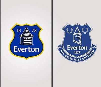 Everton FC old and new badges