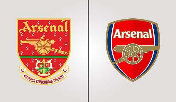 Arsenal Old and New Crests