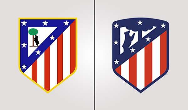 Athletico Madrid Old and New Badges