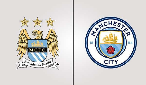 Manchester City Old and New Badges