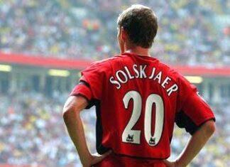 Ole Gunnar Solskjaer jersey number 20