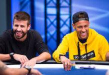 Neymar Gerard Pique Footballers Who Lover Poker